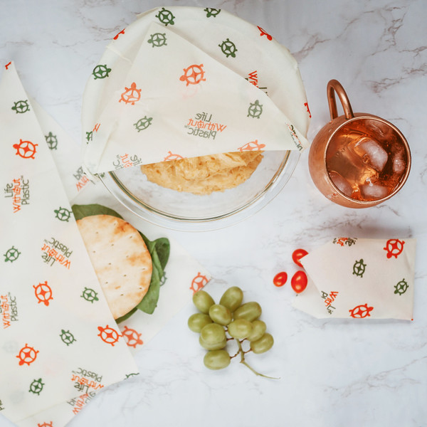 Plastic-Free Cotton and Beeswax Food Wraps -