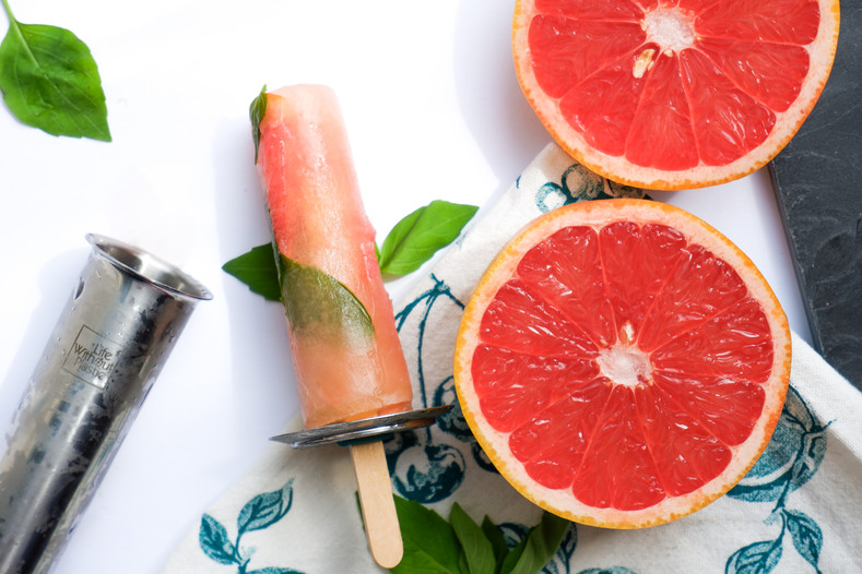 Grapefruit Basil Popsicle Recipe - 50% OFF FreezyCups!