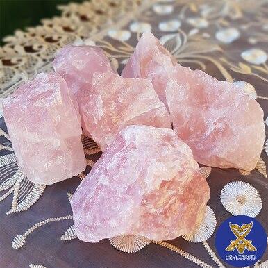 Rose Quartz Rough Healing Crystal Chunk