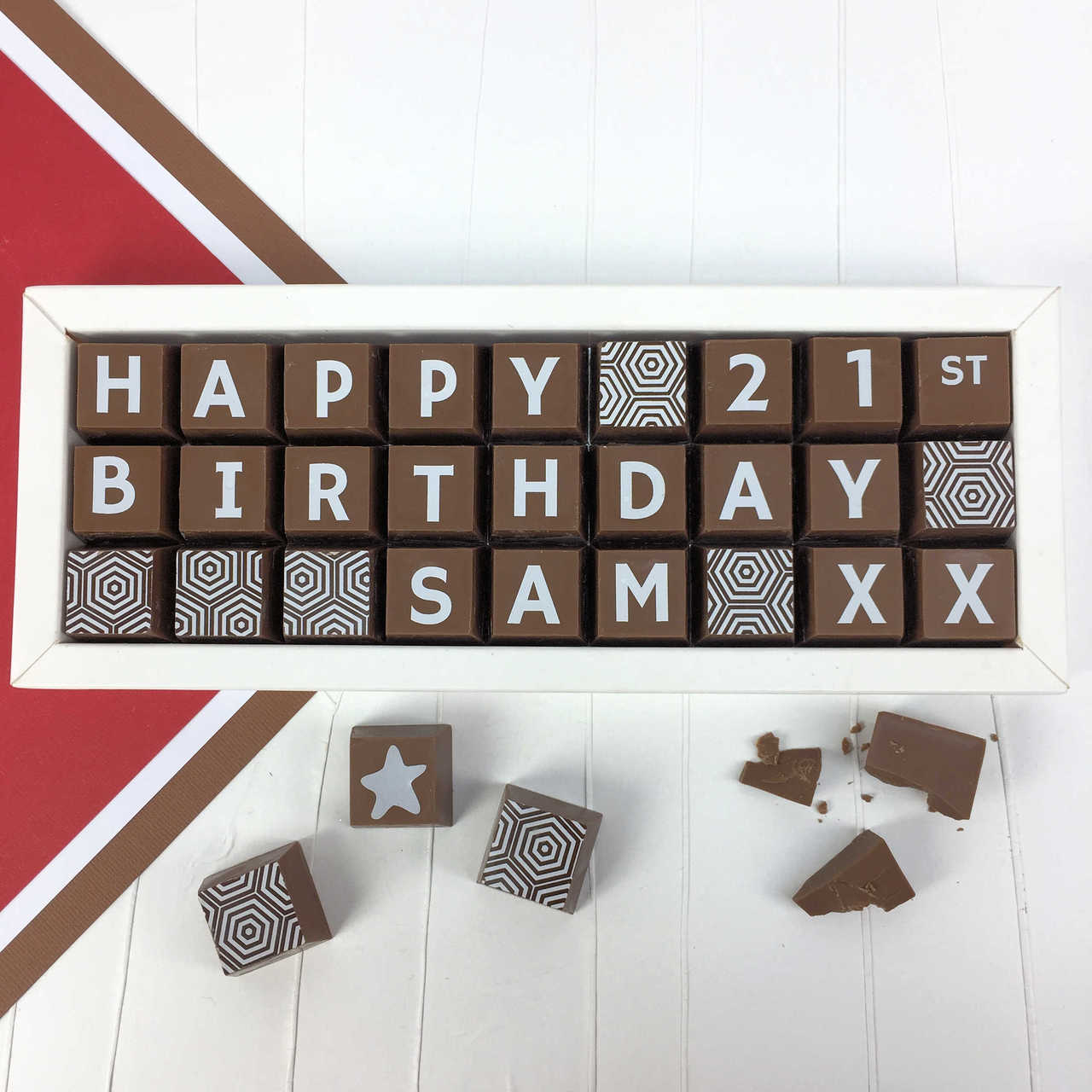 Personalised Birthday Chocolate Box With Name