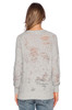 Iro Gray Distressed 'Garence' Sweatshirt Sz XS