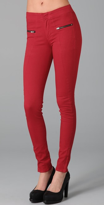 Rag & Bone Jean Red Zipper Skinny Jeans Sz 27