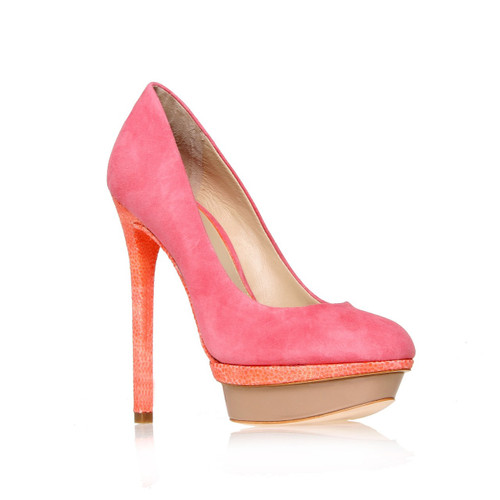 B by Brian Atwood 'Fontanne' Pink Suede Pump Sz 8.5