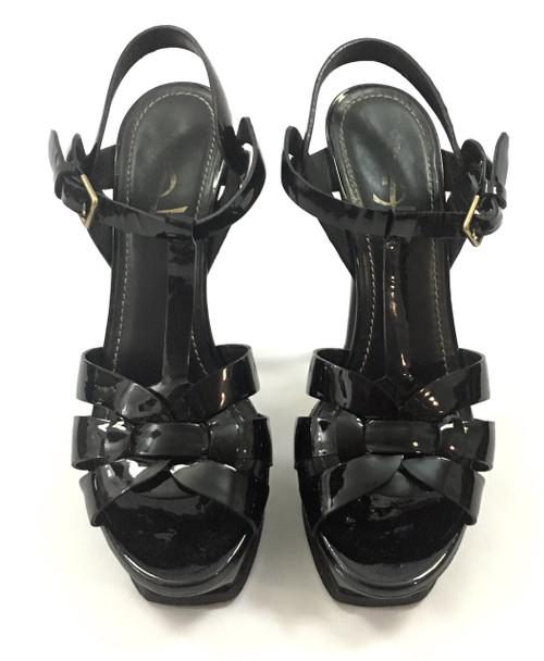 58214f42f06 ... Saint Laurent YSL Black Tribute Platform Sandals Sz 38 (US 7.5) ...
