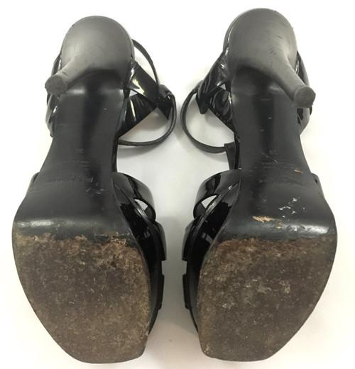 51fc2882208 ... Saint Laurent YSL Black Tribute Platform Sandals Sz 38 (US 7.5)