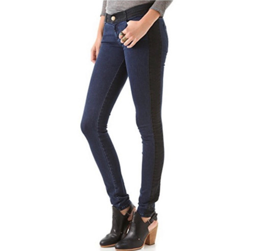 Current/Elliot 'The Rider' Blue Jeans w/Black Stripe Sz 25 **BRAND NEW