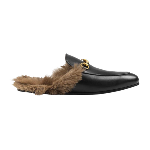 Gucci 'Princetown' Leather Mule Slipper -Sz  (US 8)