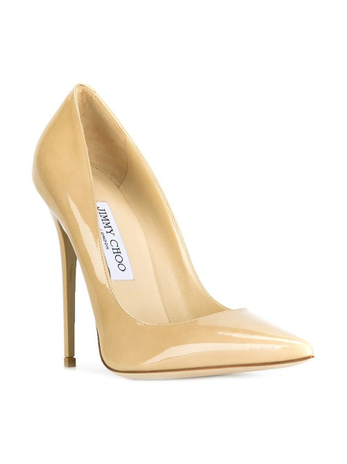 Jimmy Choo 'Anouk' Nude 120 Pumps Sz 38.5 (US 8)