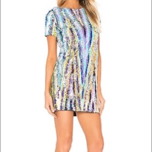 NWT* X by NBD Sydni Multi Sequin Dress sz Medium
