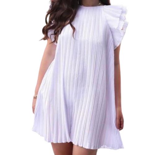 Zara Pleated Short White Dress sz Large