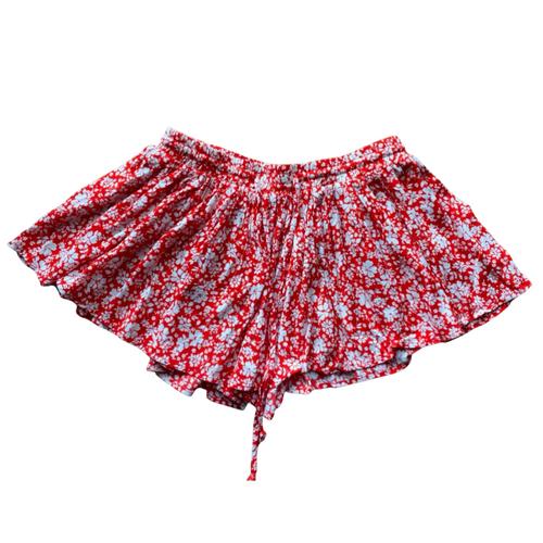 Olivaceous Floral Skort skirt shorts Flirty sz M