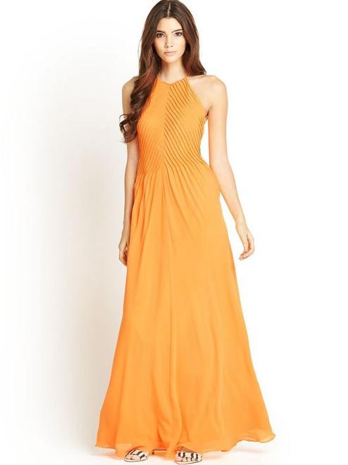 Ted Baker Orange Maxi Dress sz 2