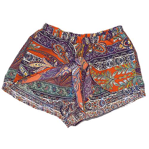 Honey Belle Handkerchief Tie Shorts sz S
