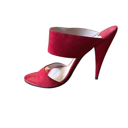 Miu Miu Red Mule Sandals sz 39 (US 8.5)