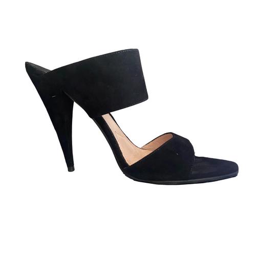 Miu Miu Black Mule Sandals sz 38.5 (US 8)