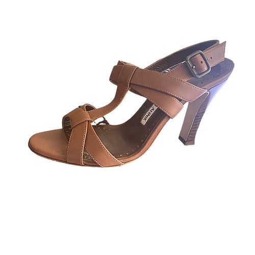 Manolo Blahnik  T-strap Sandals sz 37 (US 6.5)