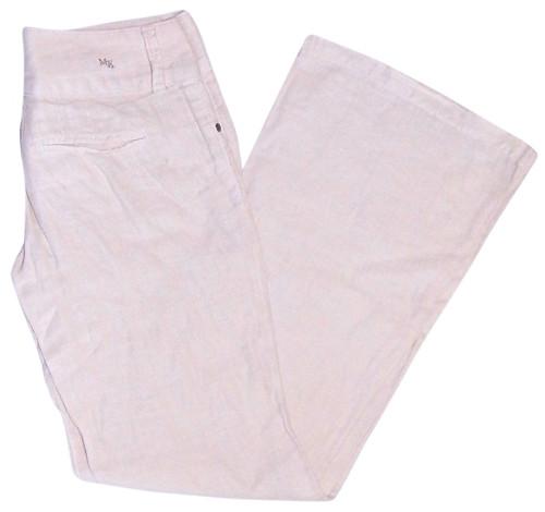 McKenna Beige Linen Wide Leg Pants sz 27