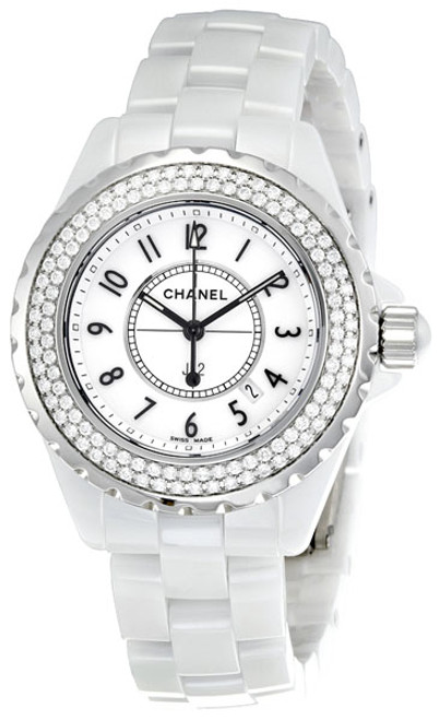 Chanel J12 Diamond Bezel White High Tech Ceramic Watch