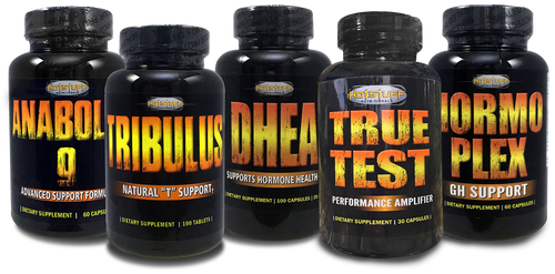 Muscle Building Stack Combo  - True Test, Anabolic 9, Tribulus, DHEA & Hormoplex