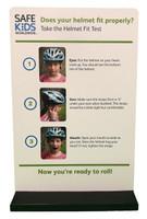 Bike Helmet Safety Display - Sign