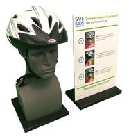 Bike Helmet Safety Display - Oblique View