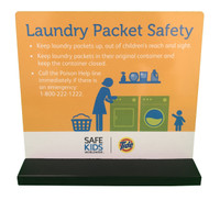 Laundry Safety Tabletop Display - Front View