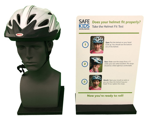 Bike Helmet Safety Display - Front View