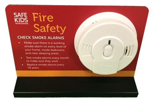 Smoke Alarm Tabletop Display - Oblique View