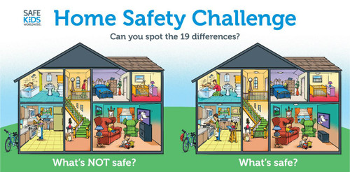 Home Safety Challenge Tabletop Banner