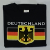 Deutschland Eagle Black T-Shirt (DEUTEAG-BLK) Adult Screenprinted