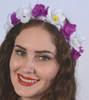 Oktoberfest Hair Garland (GAR-1004) Purple/White Flowers