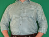 Green Checkered Shirt (SH-BT-Green)  65poly/35cotton SPECIAL