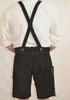 Black Cow Lederhosen (LEDBTBLK-GRN) with deer suspenders (DIETER)