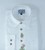 White with edelweiss/deer design Shirt (SH-403)