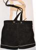 Ladies Leather Lederhosen - Black (BTLADBLK)