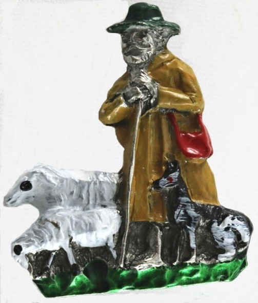 HP8466 Sheep Herder Painted Hat Pin