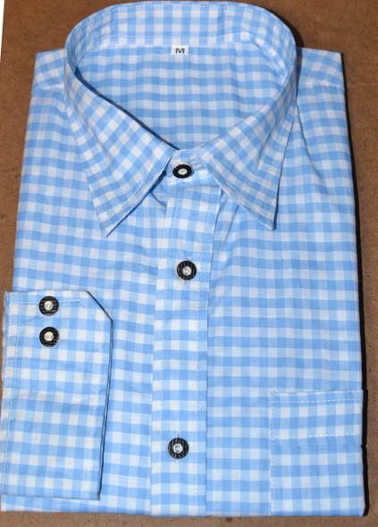 checkered shirt blue BT-LIGHT BLUE poly/cotton