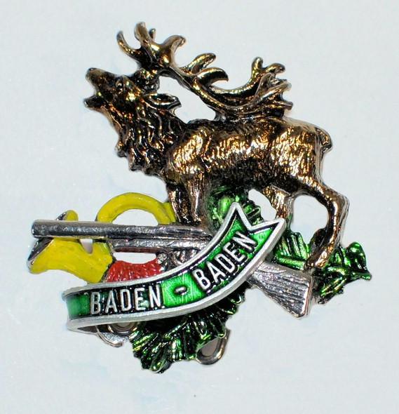 HP8803 Elk/Rifle/Horn Hat Pin BADEN BADEN