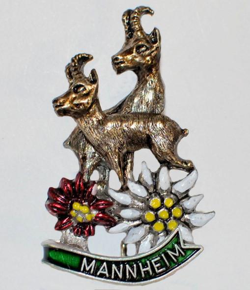 HP8804  Rams/flowers hat pin MANNHEIM