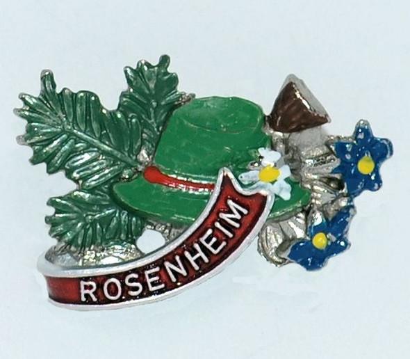HP8311R Bavarian Hat, Enzian Hat Pin ROSENHEIM