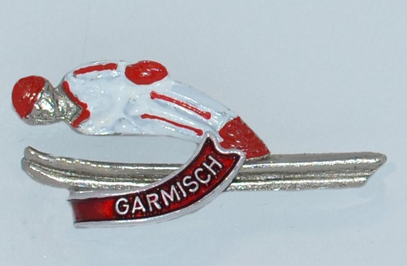 HP8340 Skier hat pin GARMISCH