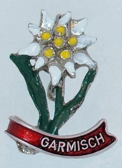 HP8312G Single Edelweiss Hat Pin GARMISCH