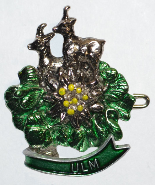 HP8482  Antelope w/flowers hat pin ULM