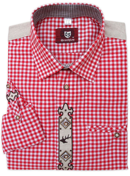 2-Tone Red Checkered Shirt (SH-235R)