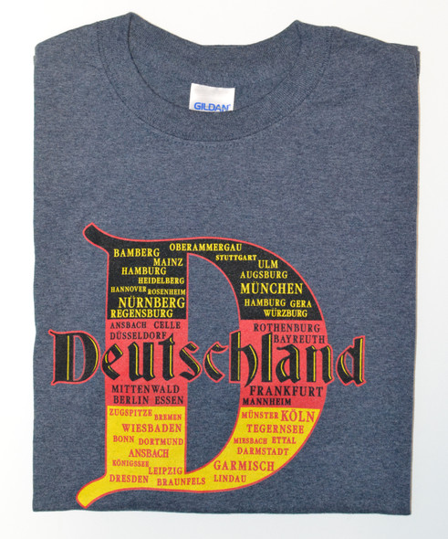 """D"" Cities T-shirt Adult Screenprinted"