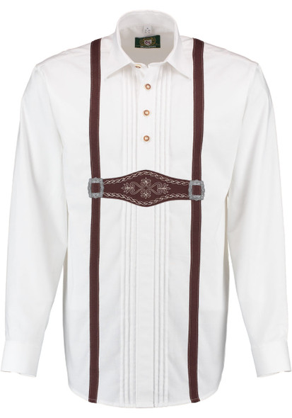 White Shirt with suspender design (SH-245)
