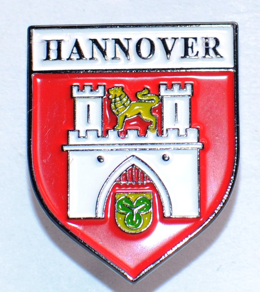 HP8512 HANNOVER Crest Hat Pin