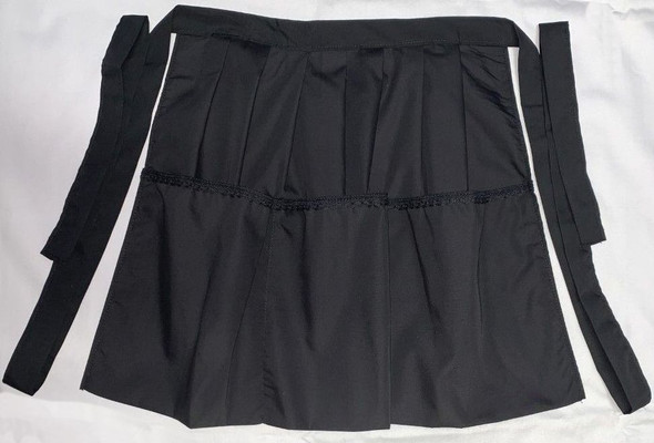 Apron - 3 pocket Waitress apron BLACK