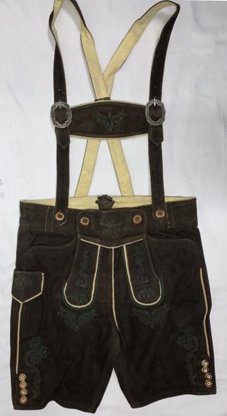 Antique Brown Goat Lederhosen with suspenders (Sam)