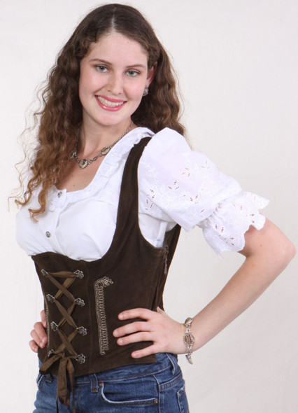 Ladies Leather Vest -Lacing (LV002) special
